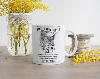 Yorkshire Terrier Mug ~ Perfect Gift can be personalised