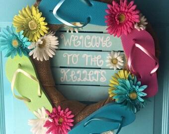 Summer Wreath Handmade Personalized