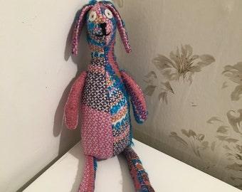Bright tweed bunny rabbit!