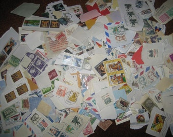 400 Vintage Postage Stamps Grab Bag - Worldwide & USA
