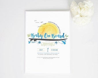 Surfer's Baby Shower Invite