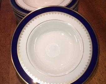 "Pickard WASHINGTON Gold Rimmed 8"" Soup/Cereal Bowl"