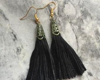 Vintage inspired tassel earrings