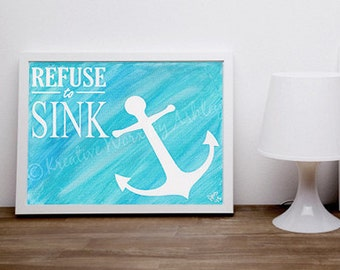 Inspirational quotes on canvas etsy for Inspirational quotes painted on canvas