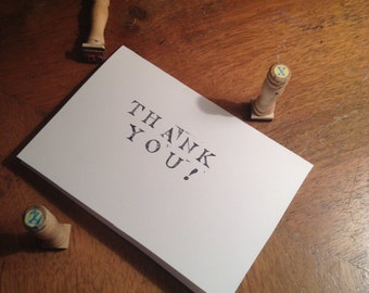 Hand Stamped 'Thank you' Card