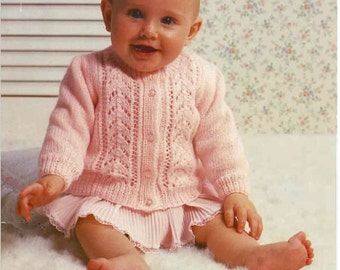 Knitting Pattern Baby Girls Lace Cardigan PDF Instant Download Nr.28