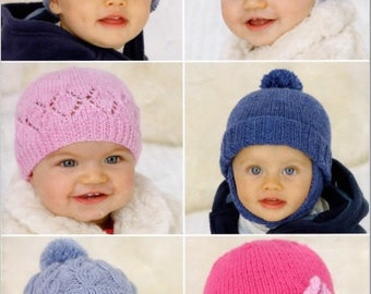 Knitting Pattern baby hat toddler hats helmet  beret 0-6 years PDF Instant Download Nr.159