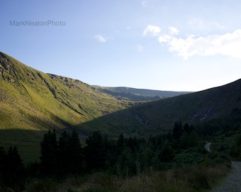 A trail in the Wicklow mountains