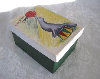 Victorian Style Gift Box / Get Well Soon Gift Box / Handmade Gift Box
