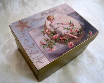 Victorian Style Gift Box / Christmas Keepsake Gift Box / Handmade Gift Box