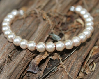 Single Looped Brown Pearl Bracelet