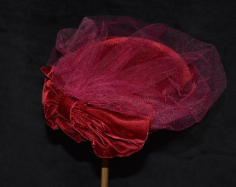 Authentic Fedora Brand Burdugndy colored women's chapeau