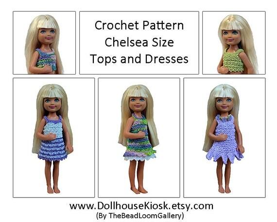 Crochet Amigurumi Whale Pattern : Crochet Pattern Miniature Doll Size Tops and Dresses