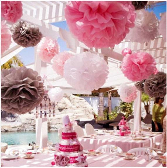 Pompoms 18 paper flower flower balls wedding decoration il570xn mightylinksfo