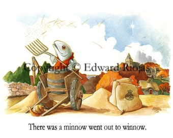 "There Was A Minnow (horizontal) 16"" x 20"" Giclee Print"