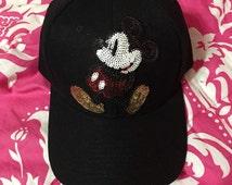 Disney Mickey Mouse Sequin Baseball Cap Hat