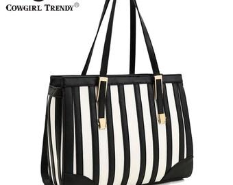 Striped Fashion Handbag