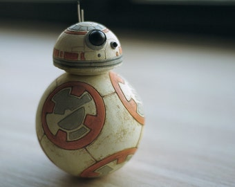 BB8 clay sculpture roly poly