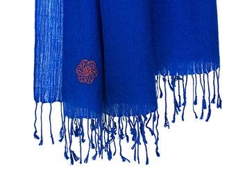 50% cashmere/silk scarf - blue (SHKS1)