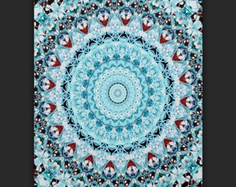 Blue Kaleidoscope Phone Case
