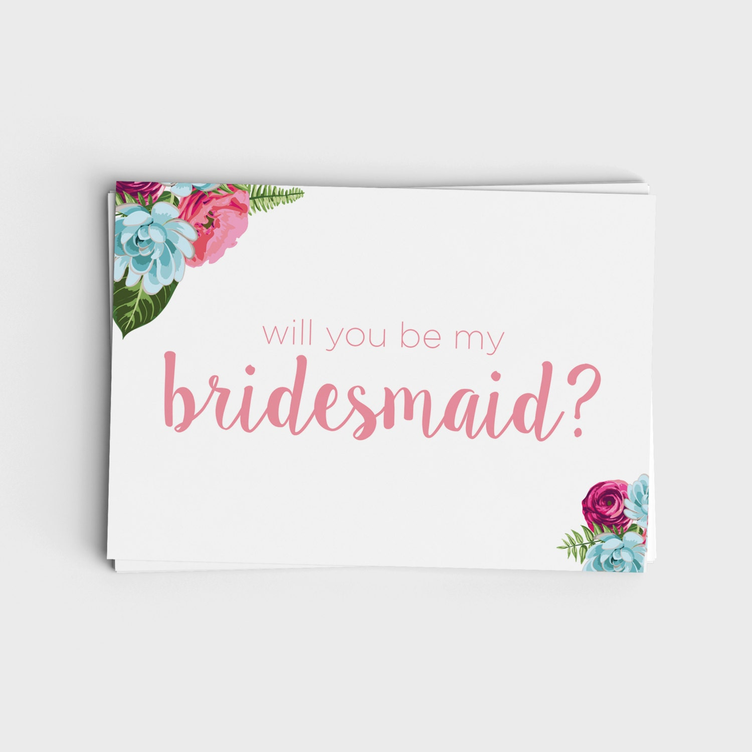 Astounding image with printable will you be my bridesmaid