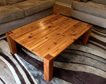 Rustic Cedar Coffee Table