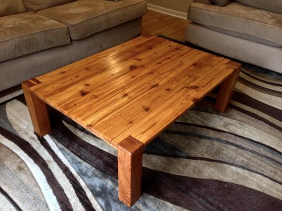 Rustic Cedar Coffee Table