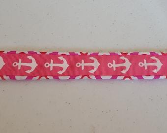 pink anchor slap bracelet