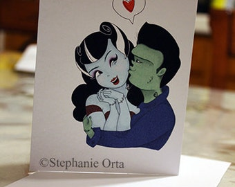 Monsters In Love Greeting Cards