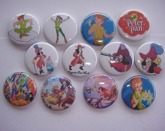 Peterpan Buttons Set of 12