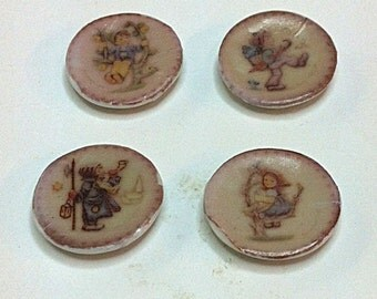 "Miniature set of 4 ""Hummel"" Plates (CER051)"
