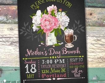 Mother's Day Brunch Chalkboard Printable Invitation