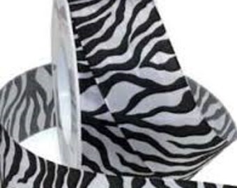 Zebra Printed Ribbon