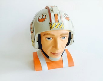 1996 Star Wars Micro Machines Rebel Pilot Head Playset