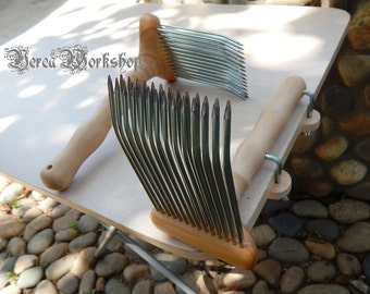 wool comb/carding comb  with mounts Work to order