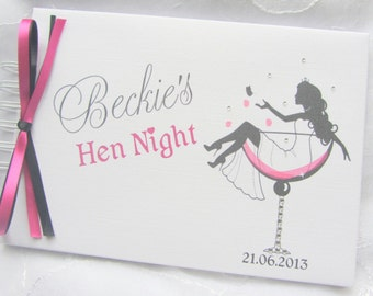Personalised Girls HEN NIGHT/ Birthday/ Photo /Guestbook