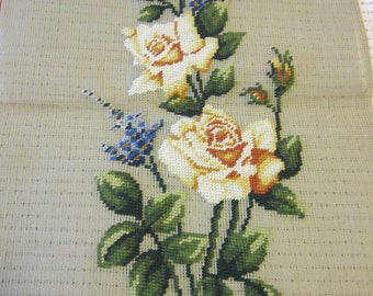 Vintage Paragon Needlepoint Floral Panel to be Completed