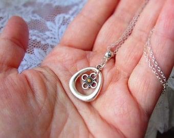 Faith hope love - Mustard Seed necklace, Mustard Seed jewelry, flower Mustard Seed charm, Faith jewelry, Faith necklace, Faith new mom gift.