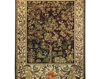 Tree of Life Umber Large Wall  Hanging Fine Art Tapestry
