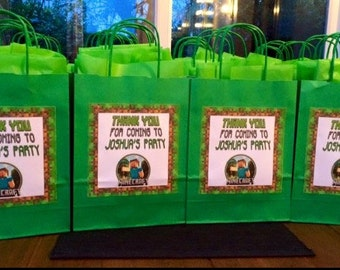 Personalised Minecraft Party Bags