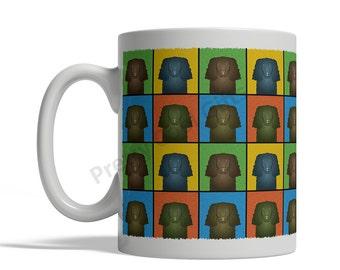 American Water Spaniel Dog Cartoon Pop-Art Mug - 11oz. Ceramic Coffee Tea Cup