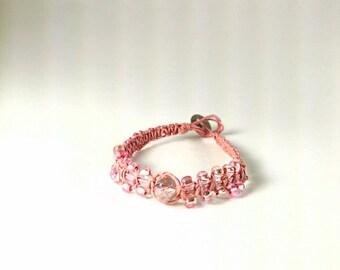 Hemp Bracelet - Pretty in Pink