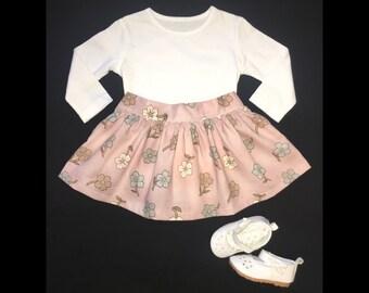 Light pink floral skirt
