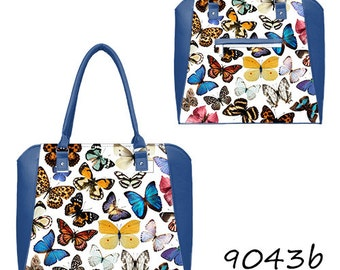 Blue bag with butterfly print