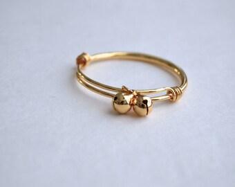 Baby Bangle - Baby Gold Adjustable Bracelet - Toddler Bracelet - Gold Bangle - Adjustable Baby Bracelet - Baby Bangle - Mommy & Me Bangle