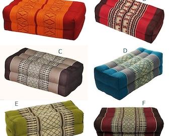 Thai Cotton Bolster Pillow Cushion Headrest Meditation Yoga Kapok