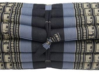 Kapok100% Thai Roll Up ORGANIC Mattress Cushion Day Bed Camping Size L BlueBlack