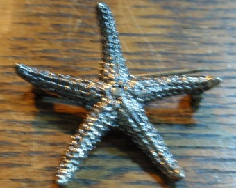 Beau Sterling Starfish Brooch