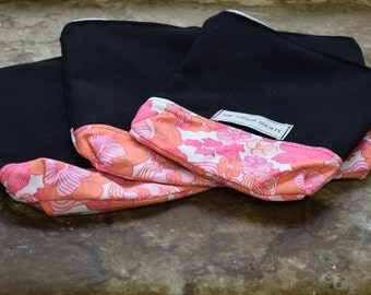 Small Black and Floral Project Bag