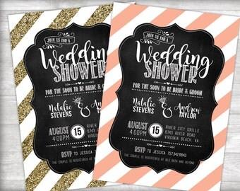 Couples Wedding Shower Invitation Printable